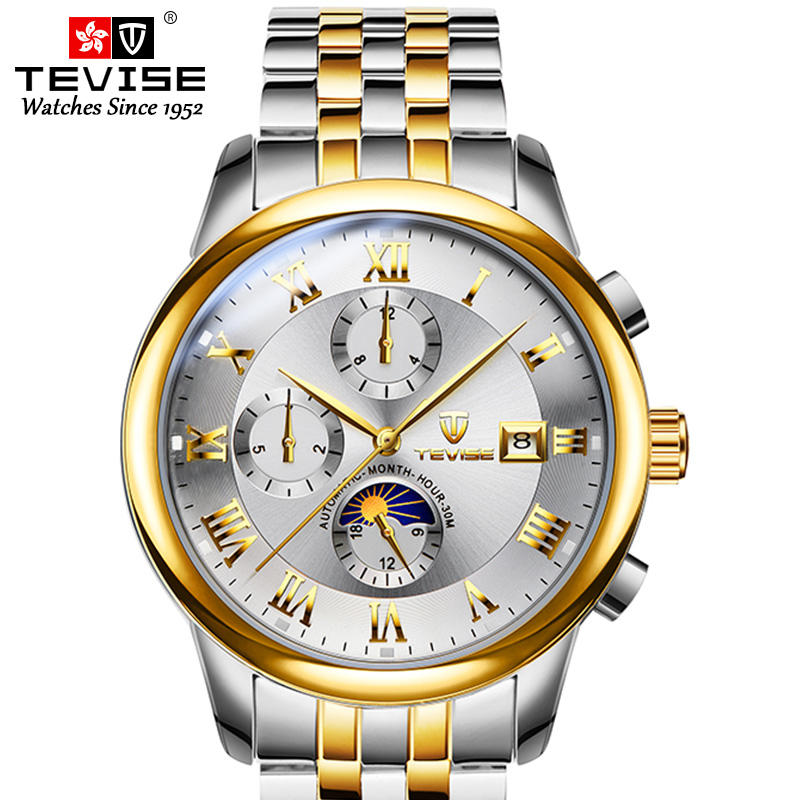 Hot Sale Simple Men Watches Brand Custom Logo Chronograph Luxury Automatic Mechanical Men Watch