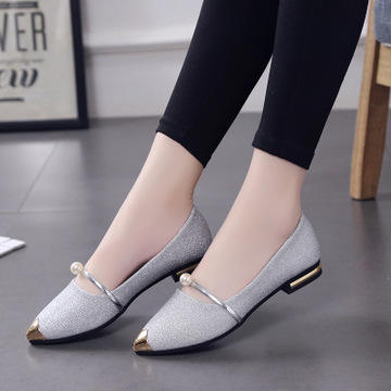 Fashion Summer New Style Woman Shoes Light Weight Flat Loafers Ladies Elegant Pointed Toe Casual Shoes for All Kinds of Ocasio