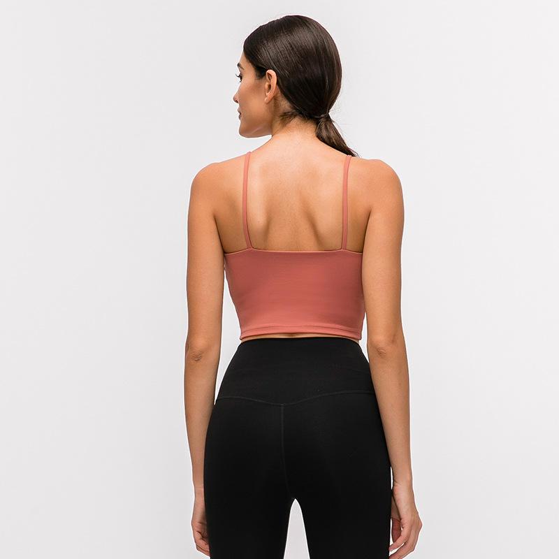 Gilet de Yoga Femmes Contiennent Plastron Sexy Mince ceinture Beau Dos Yoga Moitié Supérieure Fronde Vêtements De Yoga