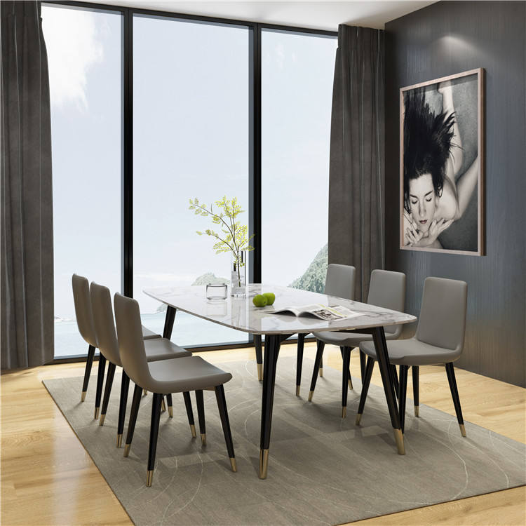 Best Sale Minimalism Slate Solid Wood Dining Table