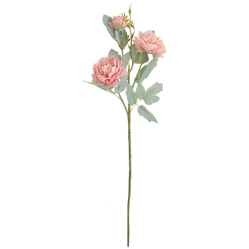 high quality 3 heads artificial chinese PINK peony flower for home decoration