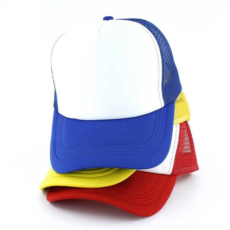 Custom Multi color Gorras foam Trucker Cap hat design logo sponge mesh trucker cap Summer 5 panel plain foam mesh cap