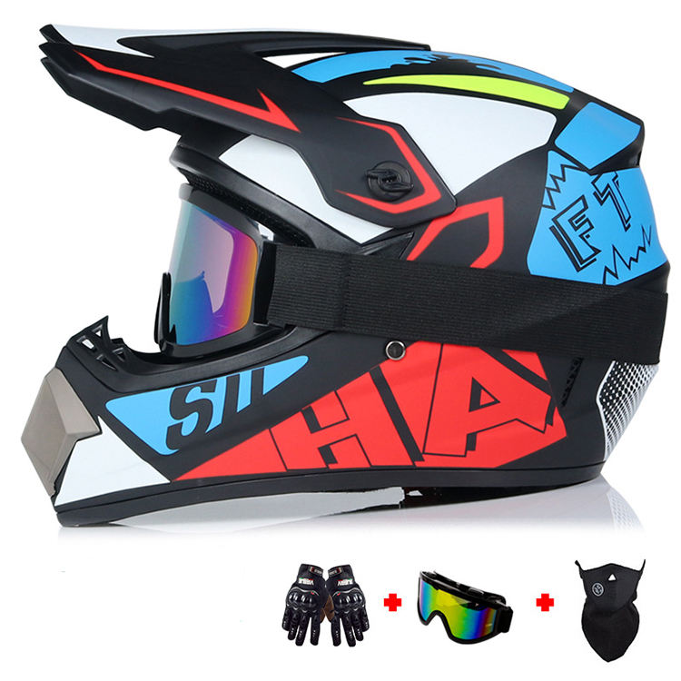 Wholesale Custom Logo Colorful Retro Full Face Mountain Motorbike Helmet