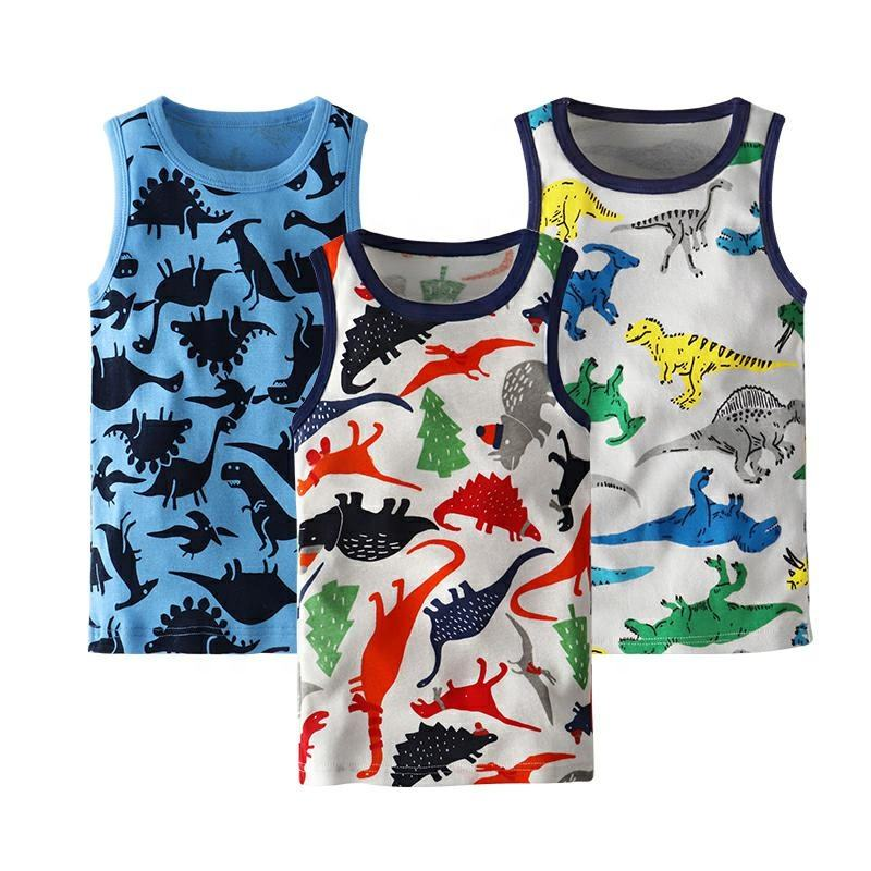 kids clothes cotton floral pint vest toddler kids shirt sleeveless tops children clothes