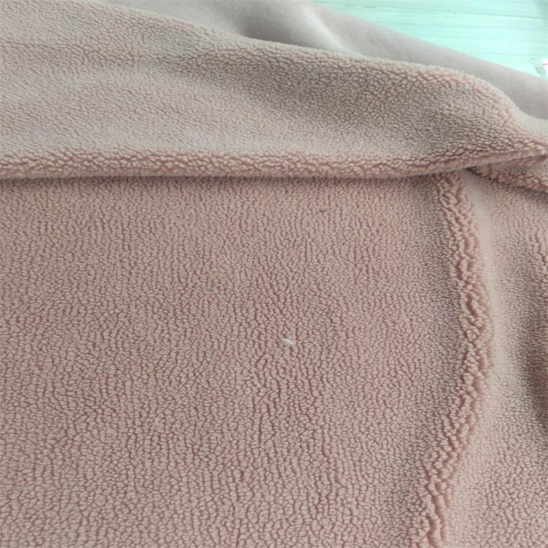 heavy polyester sherpa lining fabric for garment blanket etc.