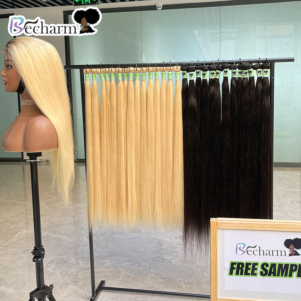 Factory Price 613 Virgin Curly Raw Cuticle Aligned Hair,Blonde Virgin Aligned Bulk Hair,Blonde 38 In Human Mink Hair