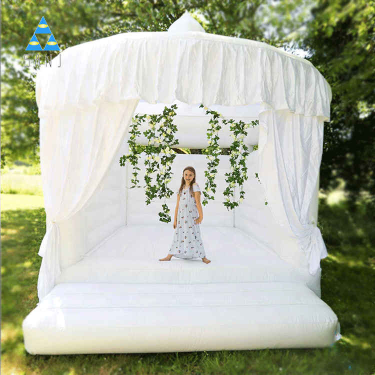 Custom Designed Inflatable Jumping Bouncer Bounce House White Wedding Bouncy Castle For Wedding