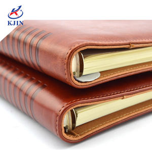 High quality Notebook Stationery Leather Business Notebook A5/B5 Diary Hand Book Meeting Minute PU Notebook Custom Wholesale
