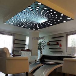 PVC translucent stretch ceiling film 3D effect stretch ceiling UV printed ceiling film