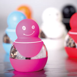 Kustom Colorful Cute Dapur Manual Mini 2 In 1 Snowman Garam Mill Garam dan Merica Toples