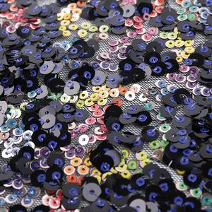 High Quality African Sequins Embroidery Tulle Lace Fabric Swiss For Dress