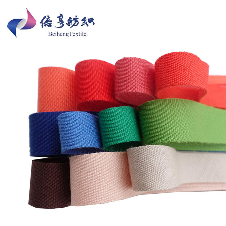 Wholesale Multi Color Straps Cotton Tape Taffeta Rolls Packaging Webbing