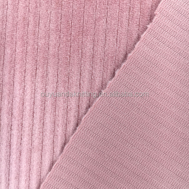 Polyester Velvet Corduroy Fabric For Garment