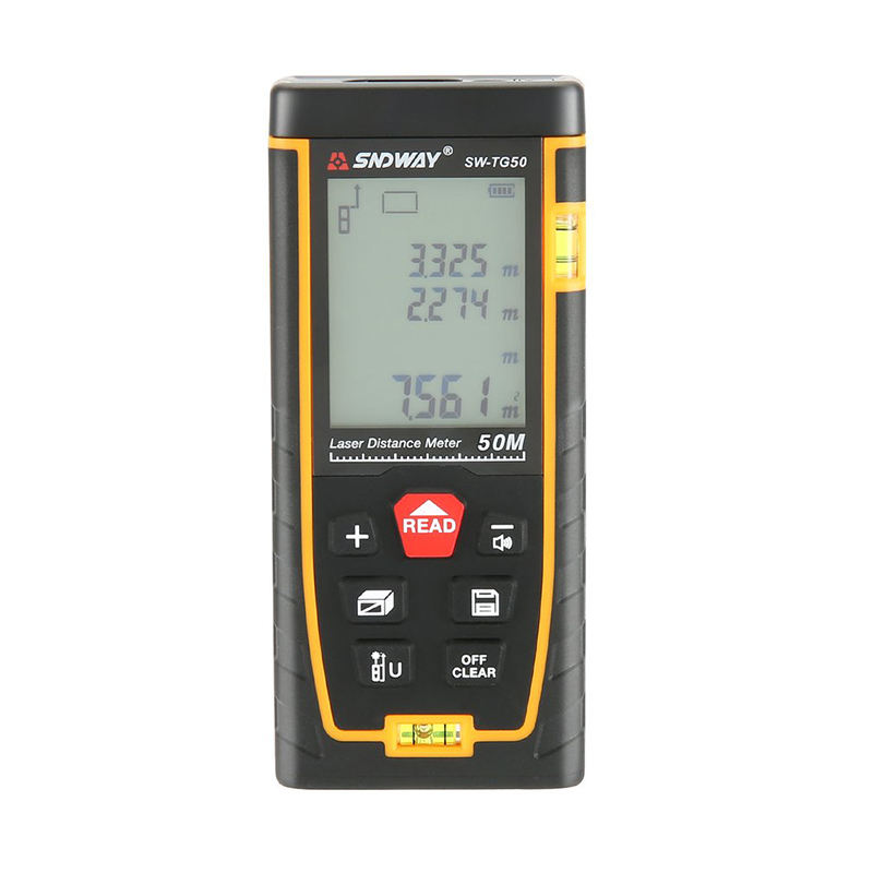 SNDWAY 50m range Laser Distance Measuring Meter with 2 Bubble Levels