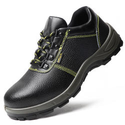 Labor protection shoes anti-smash, anti-puncture, protective safety shoes wear-resistant steel baotong working shoes