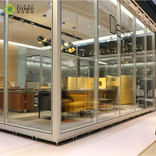 High quality tempered glass aluminum frame demountable partition walls for office