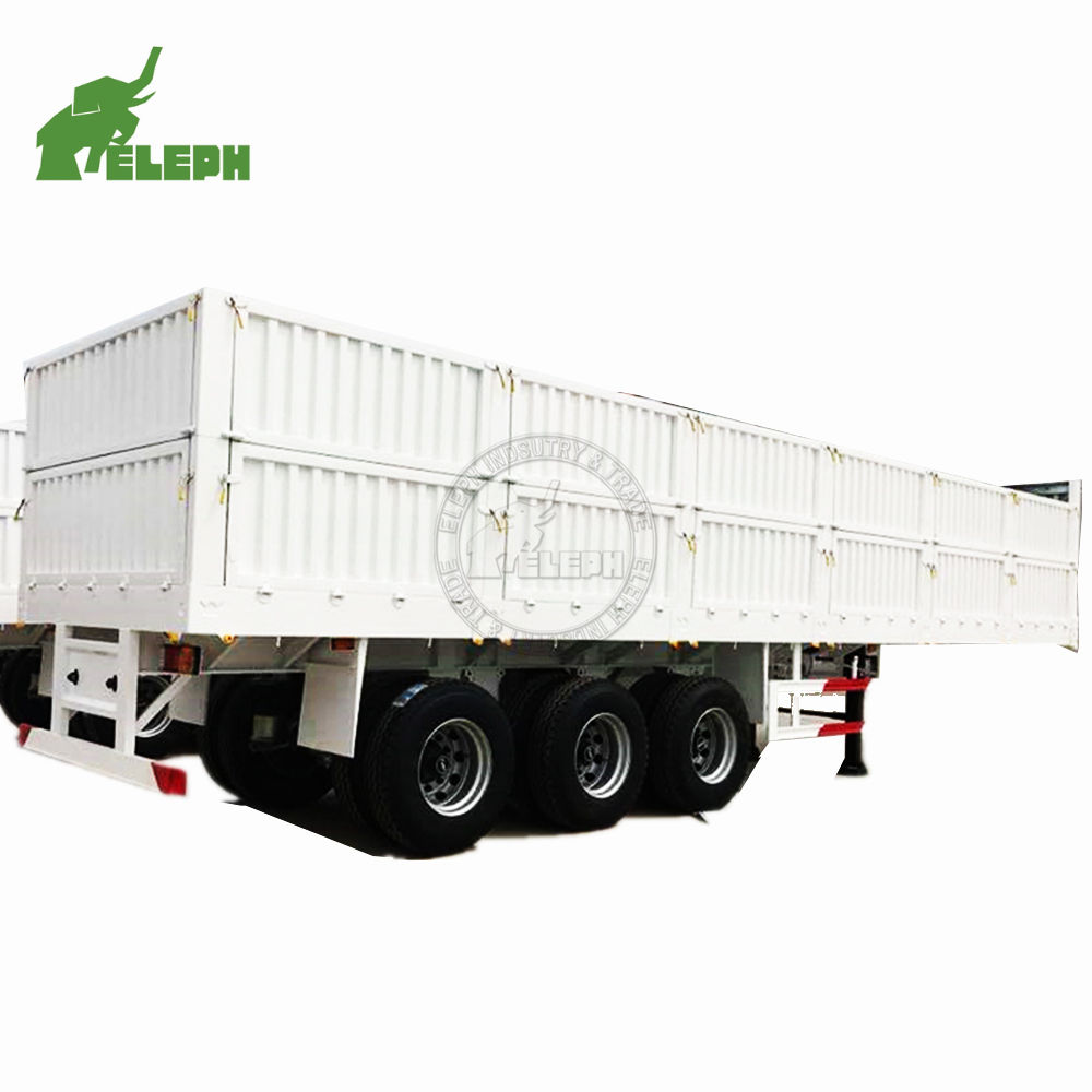 3 Axle 40Ton 60 Ton Side Wall Semi Trailer stake animal transport Fence Cargo panels Trailer