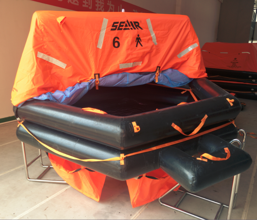 Throw overboard liferaft