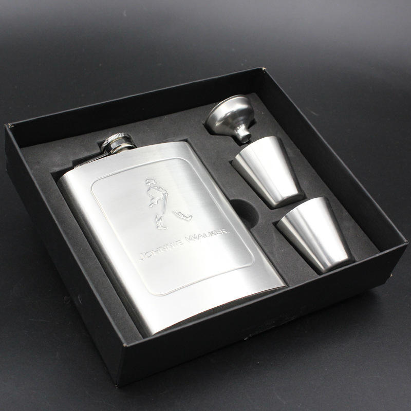 8oz stainless steel alcohol whisky winer liquo set hip flask with funnel hip flask pot