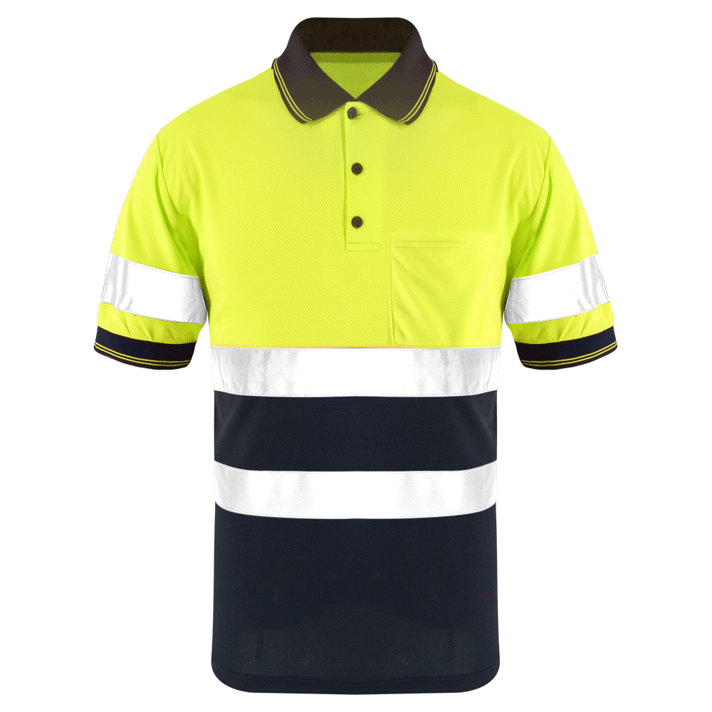 ZUJA Factory Directly ANSI Birds Eye Fabric Hi Vis Work Shirt