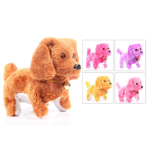 Electric forward receding dog wearing skirt with glasses hat backwards dog plush toys children's toys wholesale