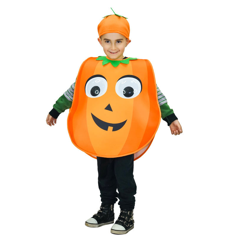 Kids Pumpkin Costume Halloween Carnival Party Fancy Dress Cute Pumpkin Costume For Children