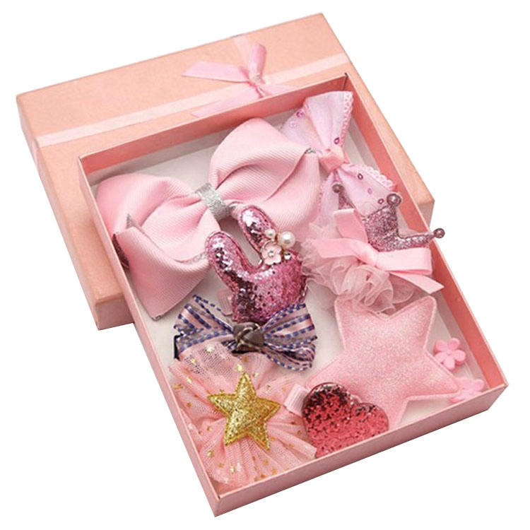 Luxe Baby Hair Clips Set in box Bows Barrette Pastel Baby Hair Accessories For Baby Girl gift