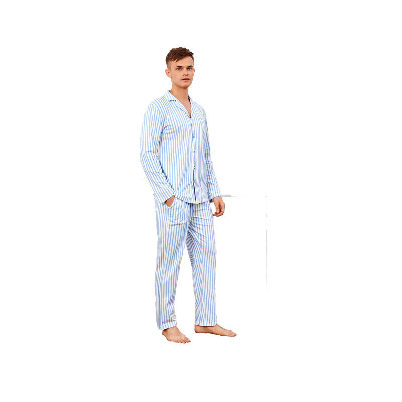 Mens Sleepwear Long Sleeve Pajamas Set Sleepwear Loungewear Men Pajamas