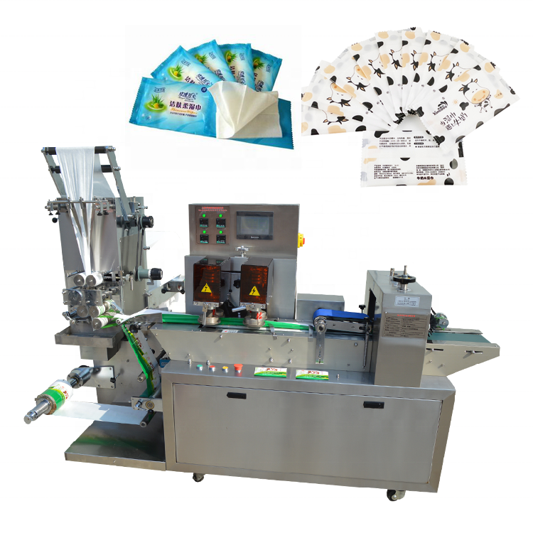 YB-SJ250X Individual wrapped wipes single pack Disposable Wet Wipes making machine and flow packing machine