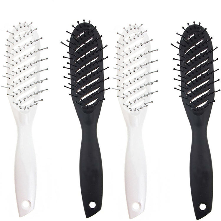High quality hot popular salon professional paddle plastic ribs hair comb