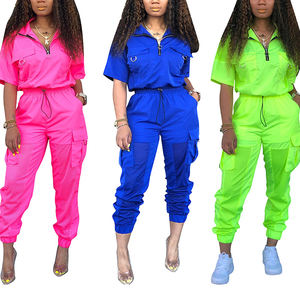 Neon Green 2 Two Piece Set Tracksuit Women Summer Outfits Top   Pant Sweat Suit Matching Sets