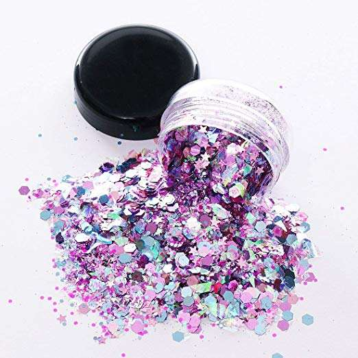 Jingxin Polyester Holographic Eco-friendly Fine Bulk Glitter for Decoration
