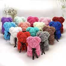 Valentine Gift 25cm  Teddy Bear Rose Flower Hot sale products