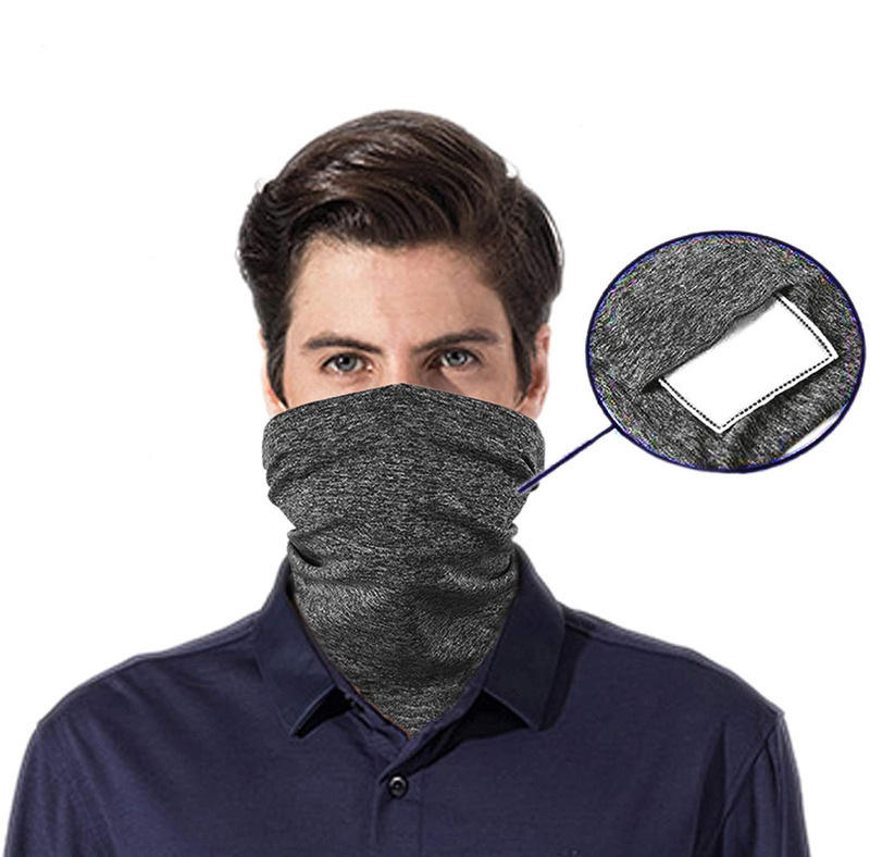 Scarf Bandanas Neck Gaiter with Safety Carbon Filters Multi-purpose Face Cover For Men Women Outdoors//Festivals//Sports 12PCS