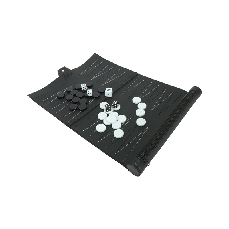 Hot Selling Portable Roll Individual Backgammon Chess Handmade Backgammon Set Board Games
