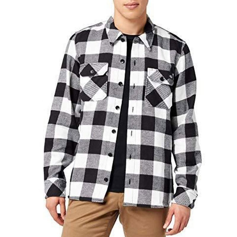 Latest fashion designer custom fancy 100% cotton plaid long sleeve men casual shirt for spring