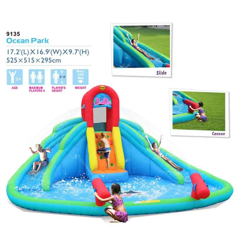 Factory price Inflatable amusement park Outdoor play inflatable air jumping trampoline bouncing castle inflatable bouncer slide