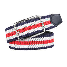 Men's Stretchy Adjustable Braided Men Elastic Stretch Belt with Pin Buckle Wholesale