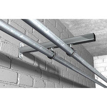"Quick installation 2""  single screw water steel pipe clamps for indoor and outdoor"