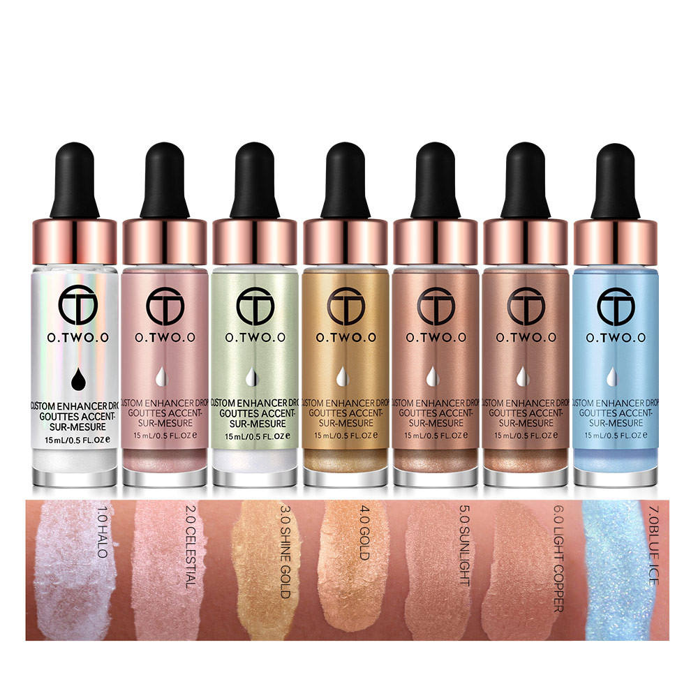 Liquid Highlighter Make Up Highlighter ครีมคอนซีลเลอร์ Shimmer Face Glow illuminating bronzing drops