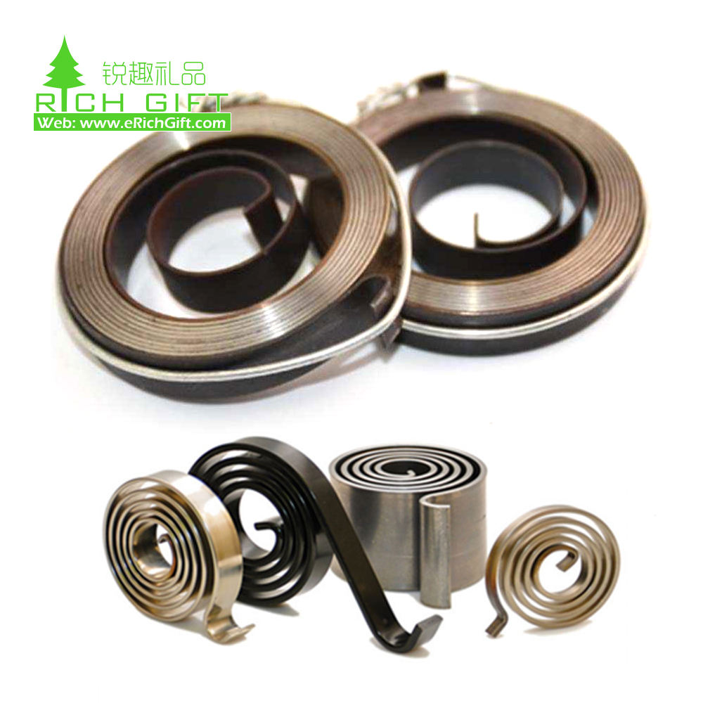 No minimum OEM custom small 4mm steel metal coil constant force flat torsion spring flat spiral spring for clock