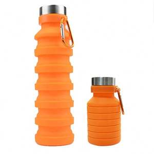 Personalized Different Colours Collapsible Filter Silicone Water Bottle Promotional Canteen