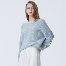 Autumn And Winter Sweet Striped Sweater Women's Cable Knitted Colorful Sweater