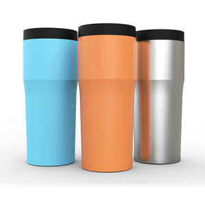 16oz doble pared vaso personalizado de acero inoxidable taza con tapa