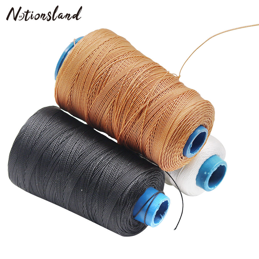 0.8mmSewing Waxed Thread for Leather Shoe Craft Sewing Thread Durable Strong Nylon Threads Hand Stitching Cord 300M Leathercraft