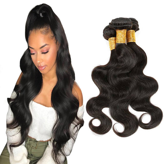 Wholesale no tangle no shed 100% Virgin Human Hair extension, cuticle aligned body wave Brazilian remy Hair Bundles vendors
