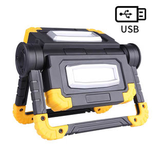 LED Work Light USB Rechargeable Folding Portable Waterproof 2 COB 1600LM Flood Light for Outdoor Camping Hiking Patented Product