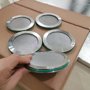 Stainless Steel 4 Inch 5 Micron Filter Sinter Disc dengan O-Ring Gasket
