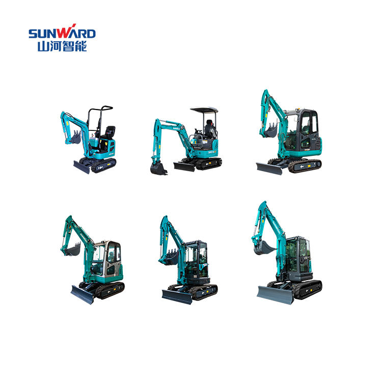 CASH COUPON SALE! SUNWARD Chinese SWE08B 1 ton crawler small digger mini excavator price for sale with factory prices