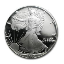 925 sterling metal custom coin in stock for colleact /Pure silver coin made in china